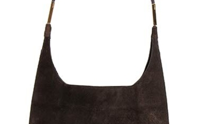 GUCCI SUEDE BAG 90s Dark brown suede bag General Conditions...