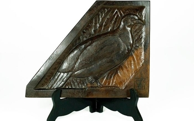 George Adam Graff (1900-1977) - Wooden relief of black grouse - 1916