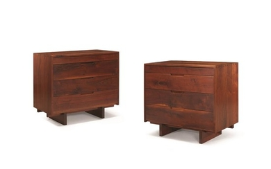 George Nakashima (American, 1905-1990) A Pair of Chests of...