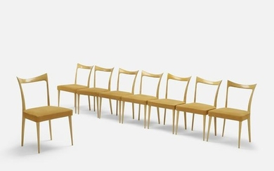 Guglielmo Ulrich, dining chairs, set of eight