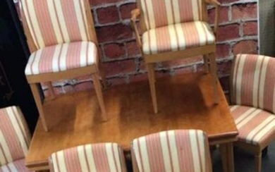 Heywood Wakefield Dining Table & 6 Chairs