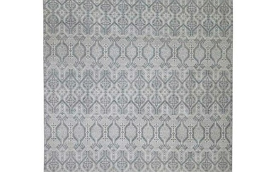 Ikat Silver Wash Tribal Design Pure Wool Hand-Knotted