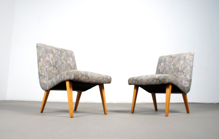 Jens Risom, Paar Lounge Sessel / easy chair Modell Vostra für Knoll, Germany (2)
