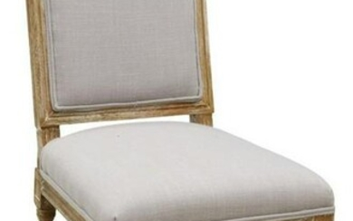 LOUIS XVI STYLE UPHOLSTERED SIDE CHAIR
