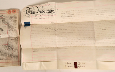 Land Deeds / From England / 2 Items. #109732