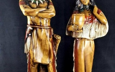 Large Native American Indian Sculptures