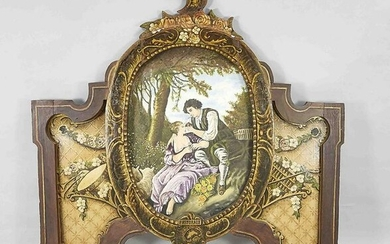 Large hand-painted wooden wall decoration with romantic