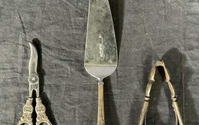 Lot 3 STERLING SILVER Handled Kitchen Tools