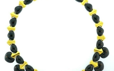 Marina B 18k Yellow Gold Jade Necklace