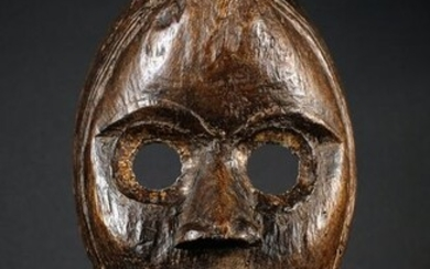 Mask (1) - Brass, Cotton, Wood - Ivory Coast - Early 20th century