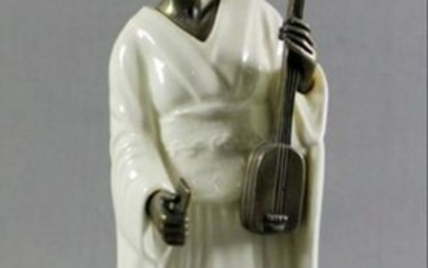 "Minton Porcelain And Bronze Figure""The Geisha"""