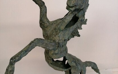 Modern horse - giant size - Contemporary - Patinated bronze - recent