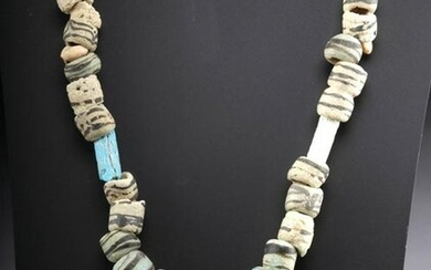 Necklace 5th C. Islamic Glass, Faience, Shell & Stone