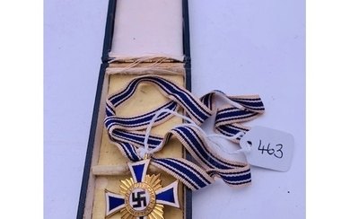 """Original German Mothers Cross """"Gold"""" with case of issue, R S..."""