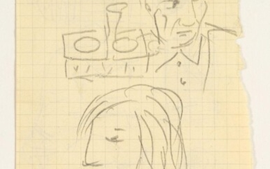 Pablo Picasso (Spanish, 1881-1973), Self Portrait with Marie-Therese Walter, Pencil on Paper FD3A
