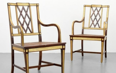 Pair of Neo-Classical Chairs, Gilt Details