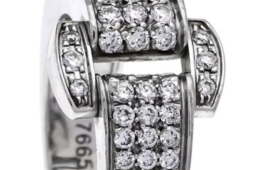 Piaget Brillant-Ring WG 750/000 with 66 brilliants, total...