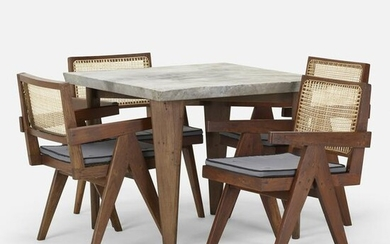 Pierre Jeanneret, Rare dining set from Chandigarh
