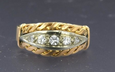 Retro diamond ring