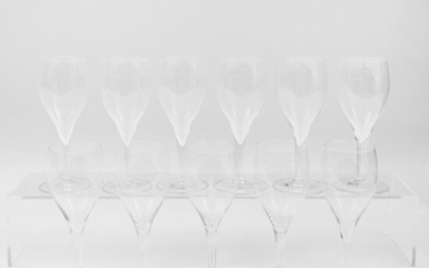 Set of Ten Bacarrat Wine Glasses