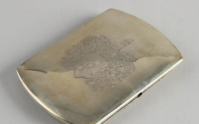 Silver box, 800/000, rectangular outlined model with a