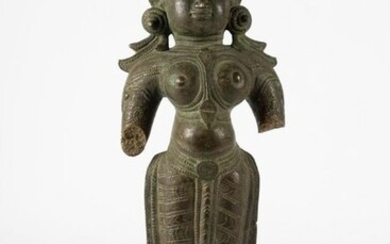 Statue of Devi (1) - Bronze - Deity - Devi - India - 18th century