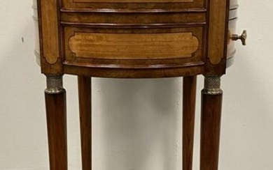 THEODORE ALEXANDER PARQUETRY INLAID SIDE TABLE