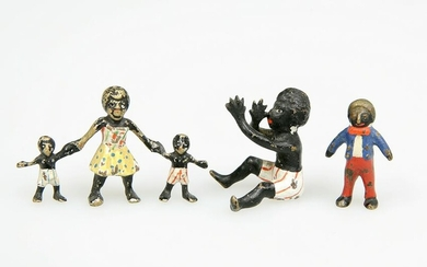 THREE EARLY 20TH CENTURY COLD PAINTED BRONZE FIGURES OF