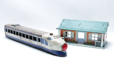 Tin Plate 'Dream' Super Express Model Train with a House length of train 53cm