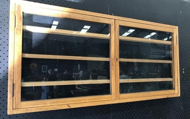 Wall Mount Display Cabinet with Glass Doors (H:48 W:102 D:7cm)