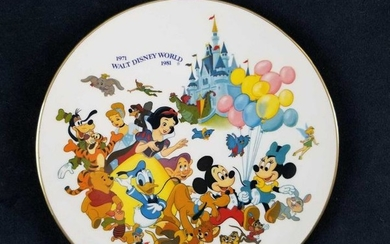 Walt Disney World Tenth Anniversary Commemorative Plate