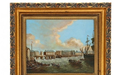 after Samuel Scott (1702-1772), Old London Bridge