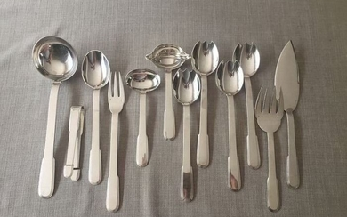 christian fjerdingstadt - christofle - Cutlery set (12) - Silver plated