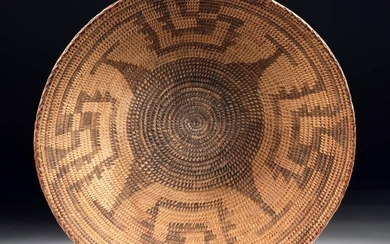 19th C. Native American Papago Basket Devil's Claw