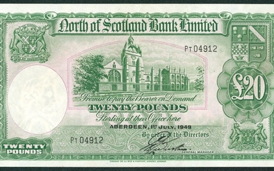 £20 dated 1-7-1949, series PT 04912, Webster signature, Pick...