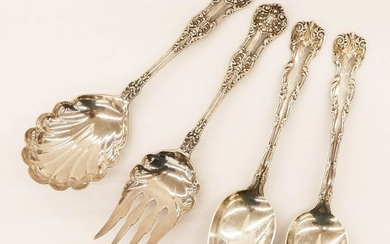 4pc Dominick & Haff Sterling Serving Pieces. Includes a