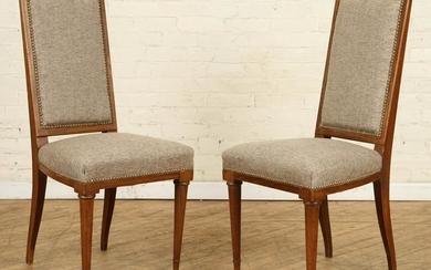 PAIR MAHOGANY SIDE CHAIRS TURNED LEGS C.1940