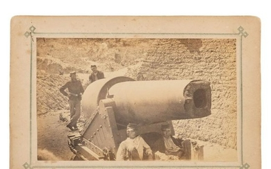 Photograph of a 300-Pound Parrott Rifle, Morris Island,