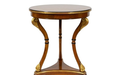 A French Empire Style Mahogany and Parcel Gilt Side Table