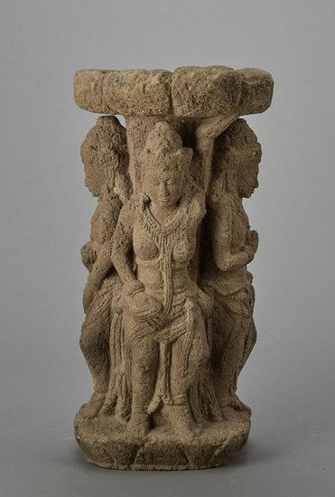 A LARGE ANDESITE BASIN, CENTRAL JAVA, 9TH CENTURY