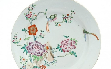 A Qing Dynasty Chinese Bird and Flower Charger