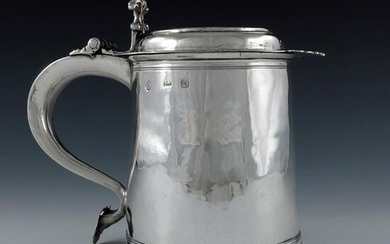 A William and Mary silver lidded tankard, Alice Noyes