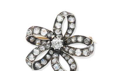 A diamond flower brooch, circa 1890