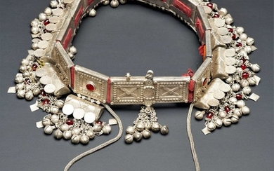 A enormous and rare silver belt of Jewish woman- Yemen, Habban -1900