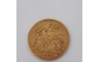 A gold half sovereign dated 1895