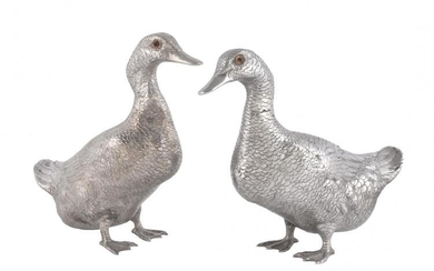 A pair of Continental models of ducks