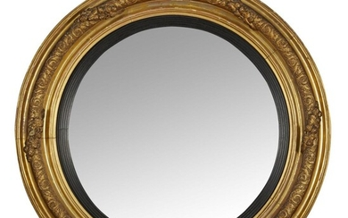 AN IRISH GEORGE IV CONVEX MIRROR