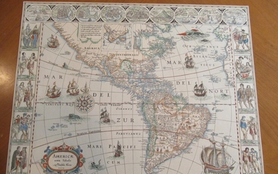 Americae Nova Tabula [Original Antique Engraved Map]