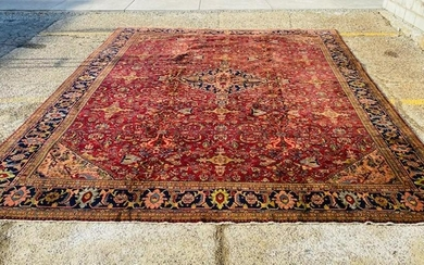 Antique Large Size Persian Design Mahal Rug-4699