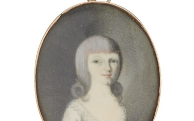 Attributed to William Verstille (1757-1803) Portrait miniature of a...